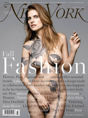 Lake Bell Nude on Magazine With Full-Body Tattoo by Hubby (NSFW PHOTO)