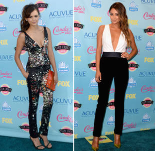 Pretty Little Liars' Shay Mitchell vs. Nina Dobrev: Who Wore the Jumpsuit Best at the Teen Choice Awards? (PHOTO)