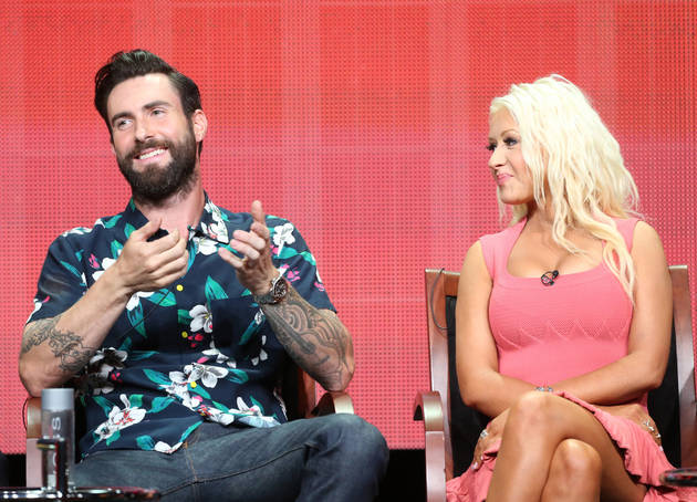 "The Voice Season 5: Adam Levine and Christina Aguilera Aren't Fighting ""Ugly"" (VIDEO)"