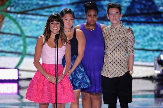 Lea Michele's First Public Event After Cory Monteith's Death — Teen Choice 2013