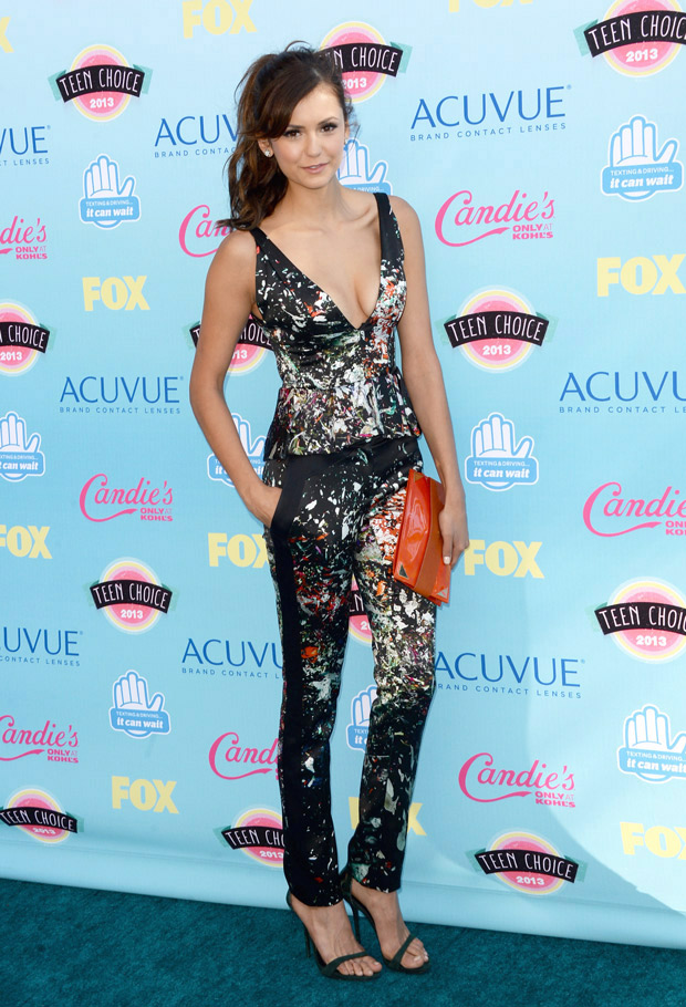 Who Did Nina Dobrev Grope at the TCAs?