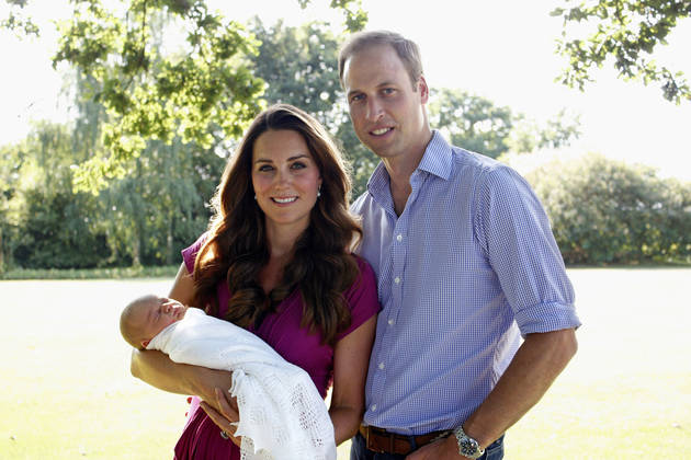 Kate Middleton, Prince William, and the Royal Baby: See the Official Portraits! (PHOTOS)