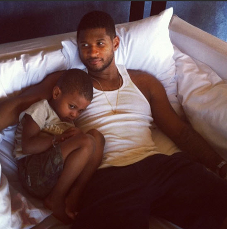 Usher's Son Released From the Hospital, Spotted Out With Grandmother
