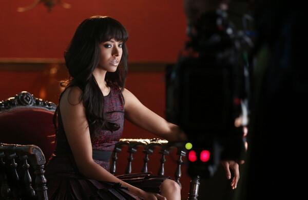 Vampire Diaries Season 5 Behind-the-Scenes Photo: Smoldering Bonnie