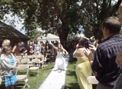Bride Rocks Down the Aisle to Buckcherry's Song 'Crazy B**ch'