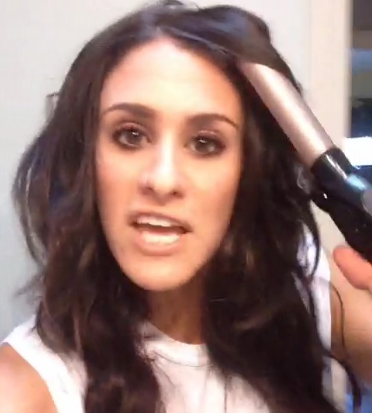 Woman's Curling Iron Microphone Fail Is a Major Burn (VIDEO)