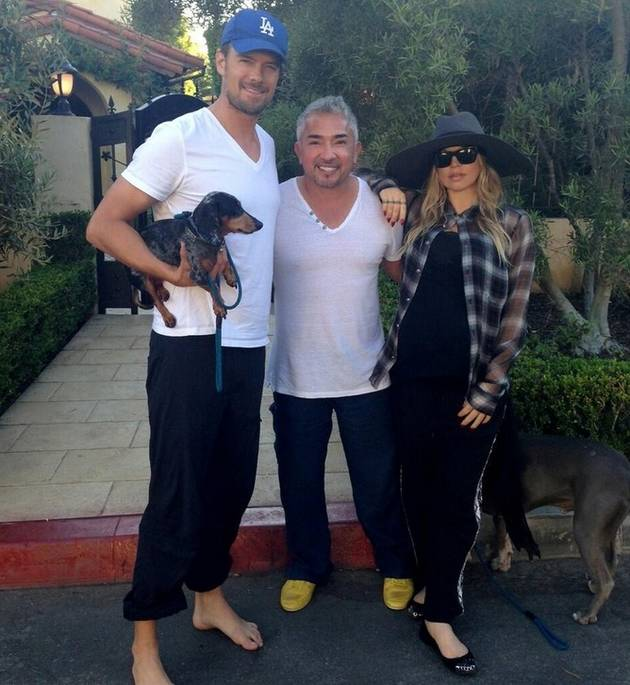 Pregnant Fergie and Josh Duhamel Prep For Baby's Arrival With a Visit to the Dog Whisperer