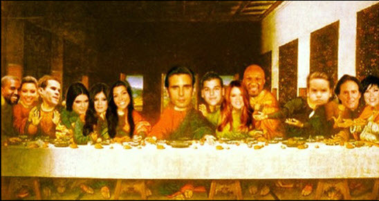 "Scott Disick Appears as Jesus in ""The Last Supper"" Spoof"
