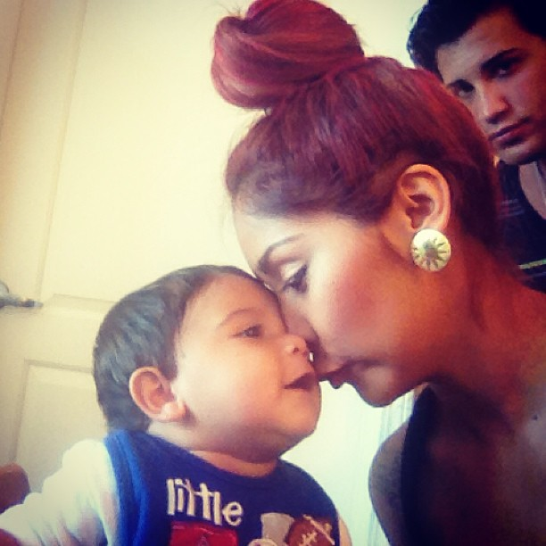 Snooki and Son Lorenzo Share Ridiculously Sweet, Adorable Moment! (PHOTO)