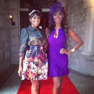 "Kenya Moore Hosts Royal Bridal Shower — See Her ""Gone With the Wind Fabulous"" Look! (PHOTO)"