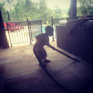 Kim Zolciak Puts 2-Year-Old Son KJ to Work — See the Adorable Picture! (PHOTO)