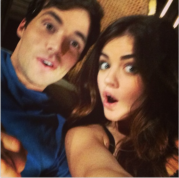 Pretty Little Liars Co-Stars Lucy Hale and Ian Harding Are Adorable Together (VIDEO)