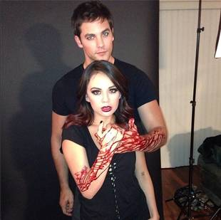 Pretty Little Liars' Brant Daugherty and Janel Parrish Get Bloody in Something Wicked Teaser (VIDEO)