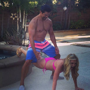 Tamra Barney Straddled By Husband Eddie Judge in Provocative Photo