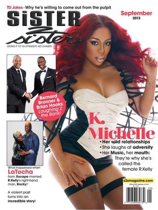 Love & Hip Hop's K. Michelle Shows Some Skin on Sister2Sister Magazine Cover (PHOTO)