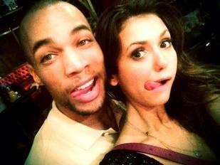 Nina Dobrev Goofs Around With New Vampire Diaries Co-Star Kendrick Sampson