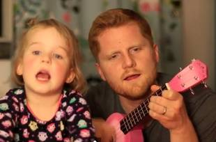 "Adorable Alert: Dad and Daughter Sing ""Tonight You Belong to Me"" (VIDEO)"