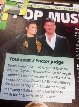 Demi Lovato in 2014 Guinness Book of World Records… For What?