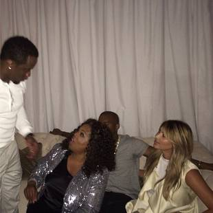Kim Kardashian Parties with Oprah and Diddy! (PHOTO)