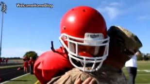 Army Dad Surprises Son At His Junior League Football Game (VIDEO)