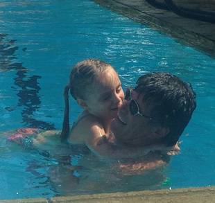 Taylor Armstrong Shares Photo of Fiance and Daughter Playing in Pool