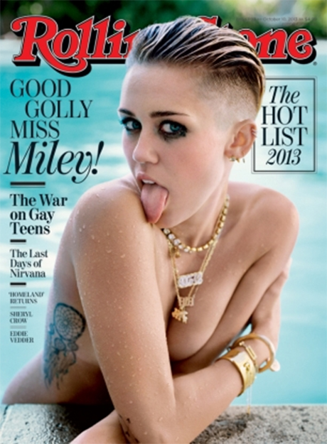 "Miley Cyrus Goes Topless on Rolling Stone, Gets ""Rolling $tone"" Tattoo (PHOTO)"