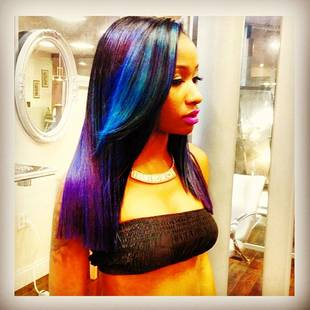 Love & Hip Hop Atlanta's Diamond Tie Dyes Her Hair Rainbow Colors (PHOTO)
