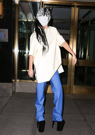 Is This Lady Gaga's Craziest Look Yet? See Her Creepy Face Mask