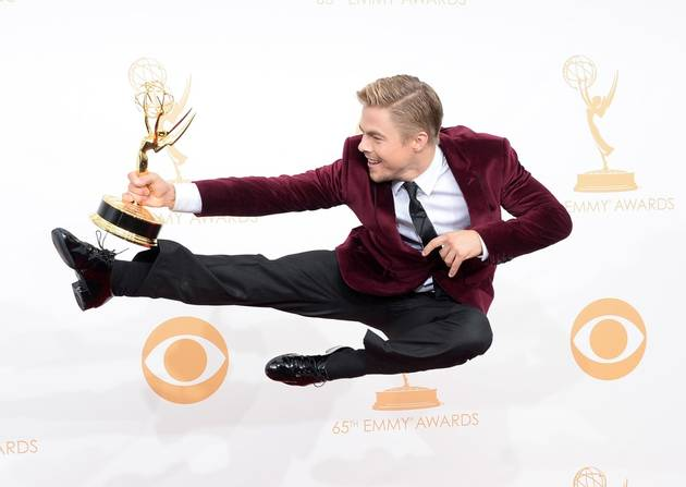 Emmys 2013: Derek Hough Wins Outstanding Choreography — Dancing With the Stars Cast Reacts!
