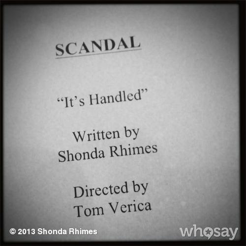 "Scandal Season 3 Premiere Synopsis Revealed: ""It's Handled"""