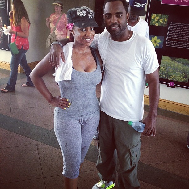 Kandi Burruss Works Hard to Fit Into Her Wedding Dress (PHOTO)