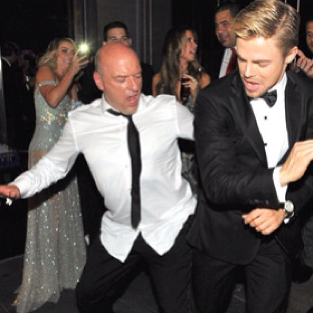 Watch Derek Hough and Breaking Bad's Dean Norris Epic Post-Emmys Dance-Off! (VIDEO)