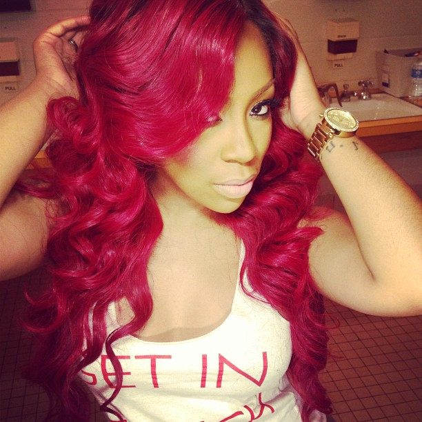 "Love & Hip Hop's K. Michelle Gets ""Engaged"" With Green Penis Ring (VIDEO)"