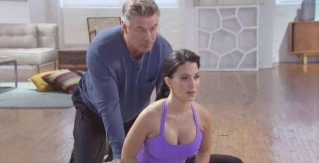 Alec Baldwin's Cameo in Hilaria's Prenatal Yoga Video Is Beyond Awkward (VIDEO)
