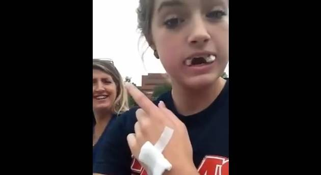 Girl Thinks She's a Nascar Driver After Wisdom Teeth Surgery