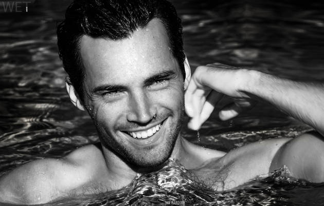 Ian Harding Strips Down and Gets Wet in Sexy Pool Photoshoot (PHOTO)