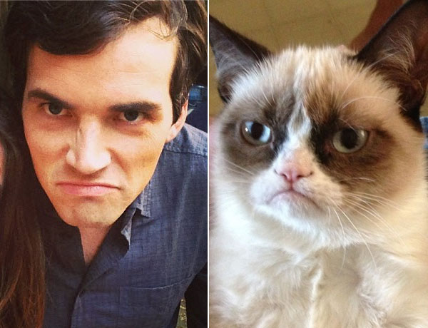 Ian Harding vs. Grumpy Cat: Whose Grumpy Face Is Better? (PHOTO)