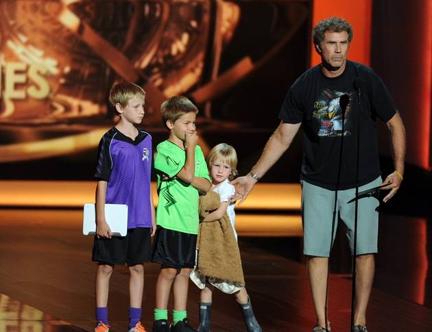 2013 Emmys: Watch Will Ferrell and His Adorable Kids Take the Stage By Storm