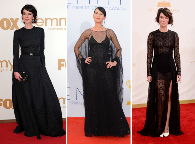 Lena Headey's Emmy Style: Game of Thrones Star Goes Goth Three Years in a Row! (PHOTOS)