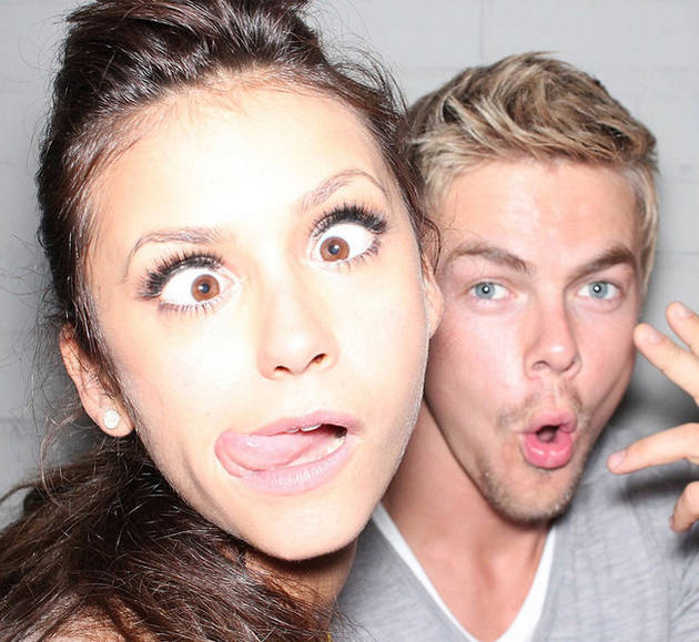 Vampire Diaries Star Nina Dobrev and Derek Hough Caught Holding Hands (VIDEO)