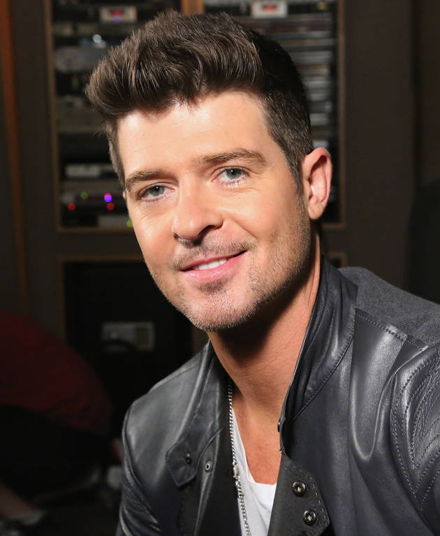 Married Robin Thicke Gropes Blonde's Butt in Snapshot (UPDATE: She Says They Made Out)