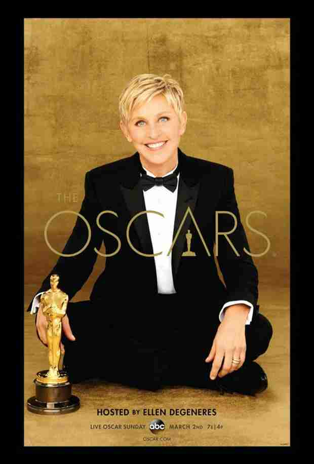 Ellen DeGeneres Hangs With Oscar in Official Academy Awards Poster (PHOTO)