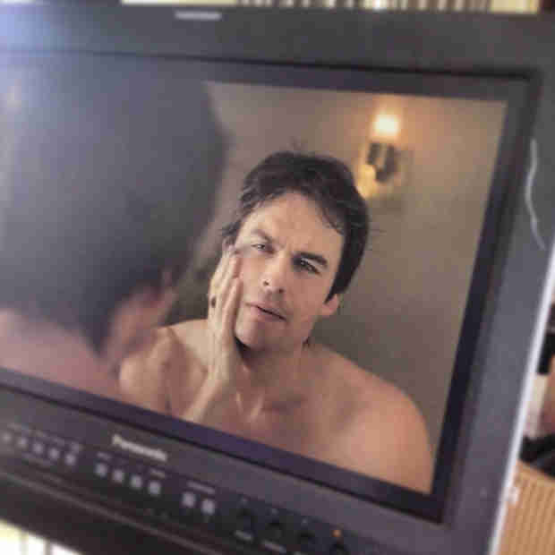 Shirtless Ian Somerhalder Teases Upcoming Funny or Die Video (PHOTO)