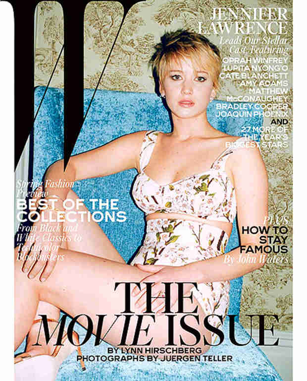 Jennifer Lawrence Poses in Bra Top on Revealing W Magazine Cover (PHOTO)