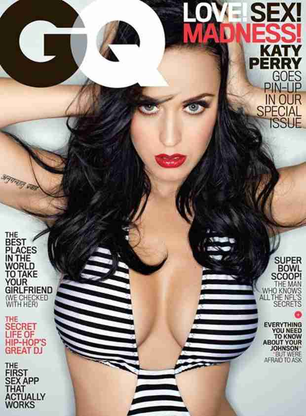 GQ Covergirl Katy Perry Talks John Mayer and Getting Her Boobs (PHOTO)