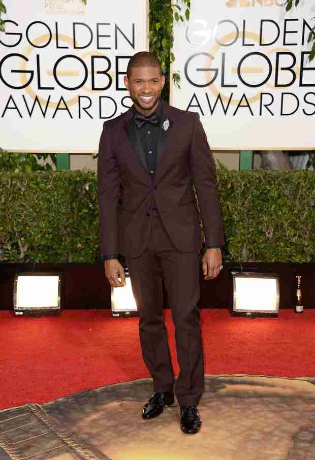 Usher Tops List of Best Dressed Men at the 2014 Golden Globes