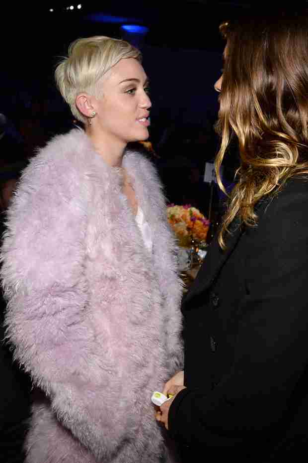 Jared Leto Bonds With Miley Cyrus at Pre-Grammys Gala (PHOTOS)