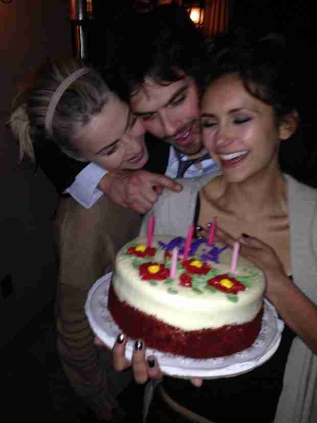 Nina Dobrev Celebrates 25th Birthday With Ian Somerhalder and Bestie Julianne Hough