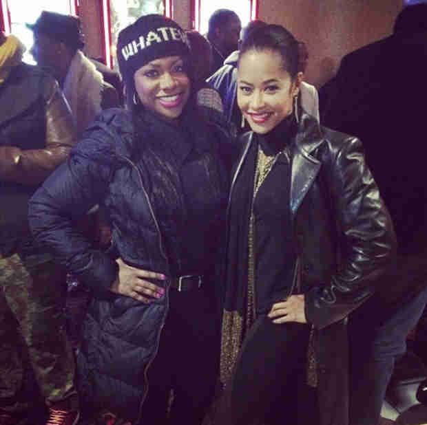 Kandi Burruss Runs Into Former Real Housewives of Atlanta Co-Star, Lisa Wu! (PHOTO)