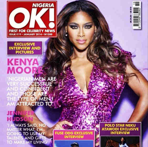 Kenya Moore Covers OK! Nigeria, Praises Nigerian Men (PHOTO)